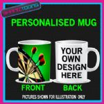 DARTS BULLSEYE BOARD PERSONALISED MUG BIRTHDAY GIFT